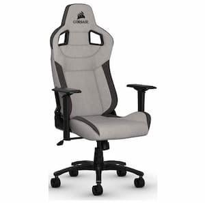 Cadeira de jogador gamer Corsair t3 rush cinza e preto