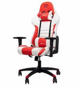 Cadeira de jogador Furgle vermelho e branco - Qualidade e a melhor oferta
