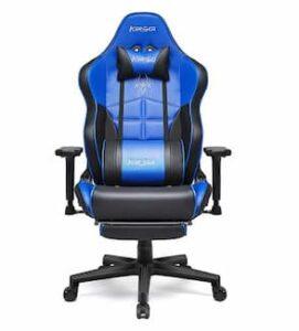 Cadeira de jogador Kirogi azul e preto - Oferta especial - promoção limitada